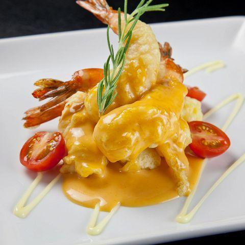 Special aurora mayonnaise of shrimp shrimp