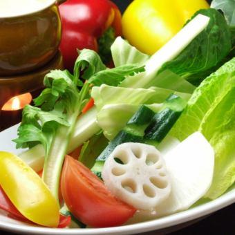 【野菜たっぷりコース】 2.5時間飲み放題付き 7品 4500円