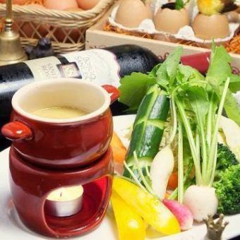 有機野菜と季節野菜のフレッシュバーニャカウダ