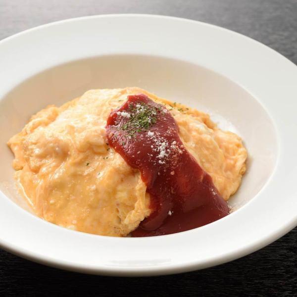 徳島地養卵の特製とろとろふわふわオムライス