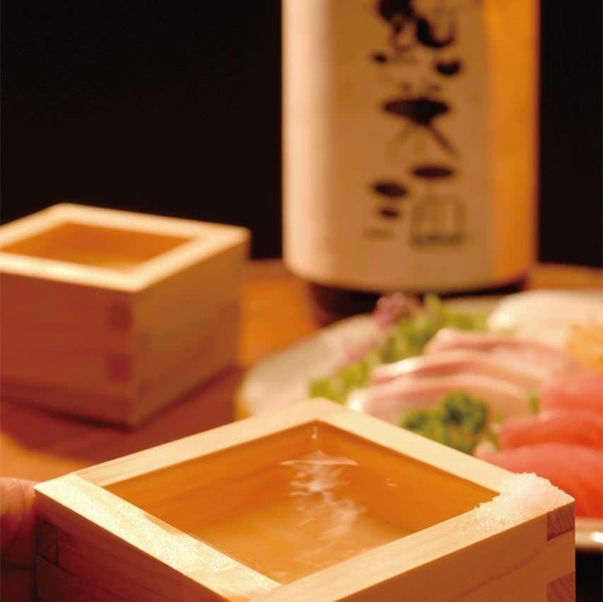 日本酒30種以上取り揃えています。時期限定酒有ります。