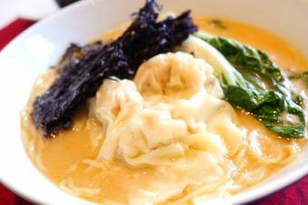 休日ワンタン麺ランチ