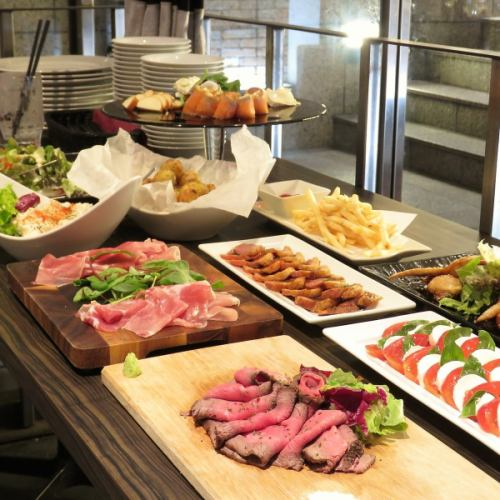 【Rucole Buffet Limited】120分钟轻松吃喝自助餐Rokoru原味自助餐3700日元