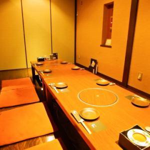 ゆったり寛げる一番人気の掘り炬燵個室