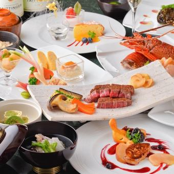 【Zen】 Chef's skill and high-class ingredients · Shrimp with Ise shrimp and Kuroge Wagyu beef playing harmony / All eight items