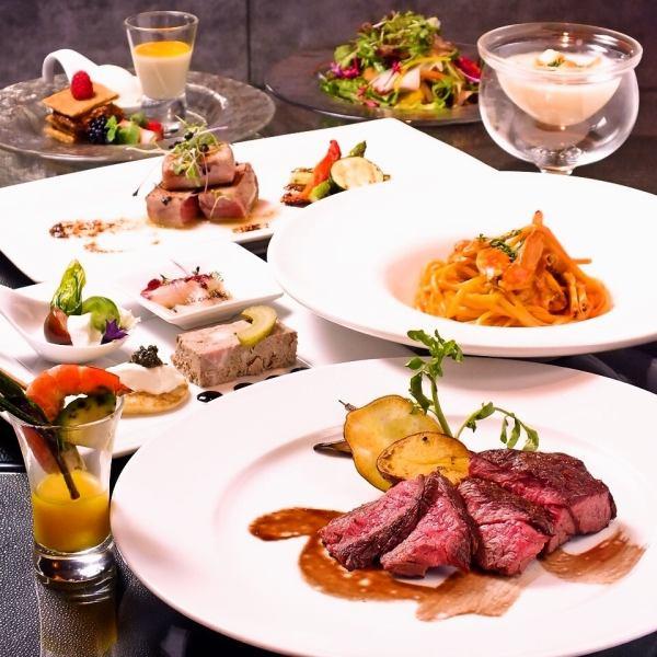 ◆ 완전 개인 실에서 풀코스에서 접두사 저녁 ◆