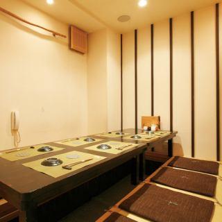 ≪1F≫7名様席、完全個室。