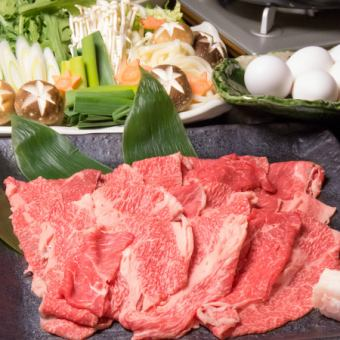 ≪和牛すき焼きコース≫2時間飲み放題付 8品6000円 【前日迄に要予約】