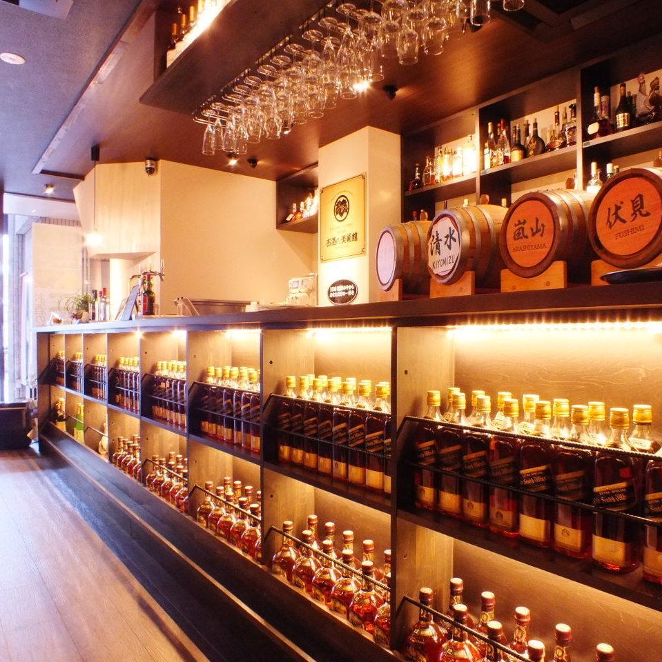 自慢のウイスキーは日本各地の種類はもちろん!世界のウイスキーを多数ご用意しております!!
