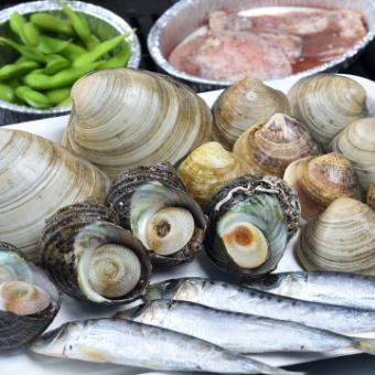 Start from January ♪ 【Seafood BBQ】 90 minutes All you can eat & All you can drink at 3,500 yen (tax included) 【※ extended 30 minutes + 500 yen】