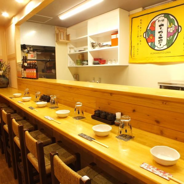 Counter seating is also recommended to use of 2 people.Tourism to Kumamoto, also available in, such as entertainment, meals.