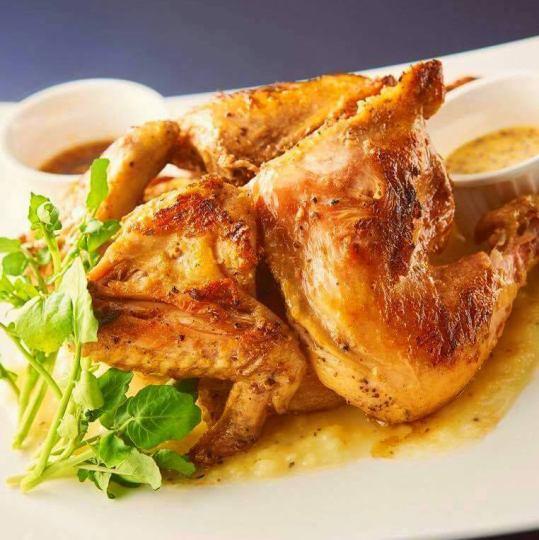 【お店の看板メニュー】国産鶏の丸焼き