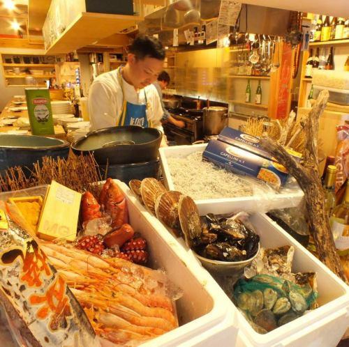 店内に並ぶ鮮魚の数々