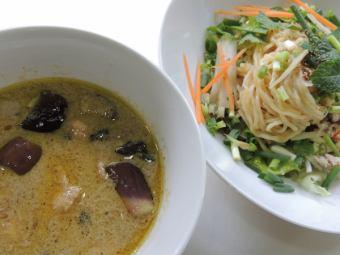 グリーンカレーつけ麺