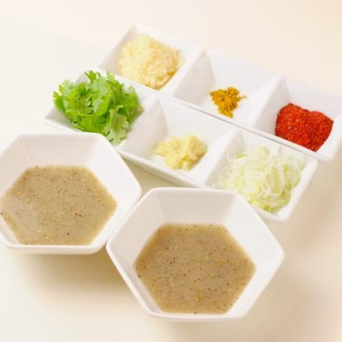 薬味6種セット(塩ダレ2個付き)