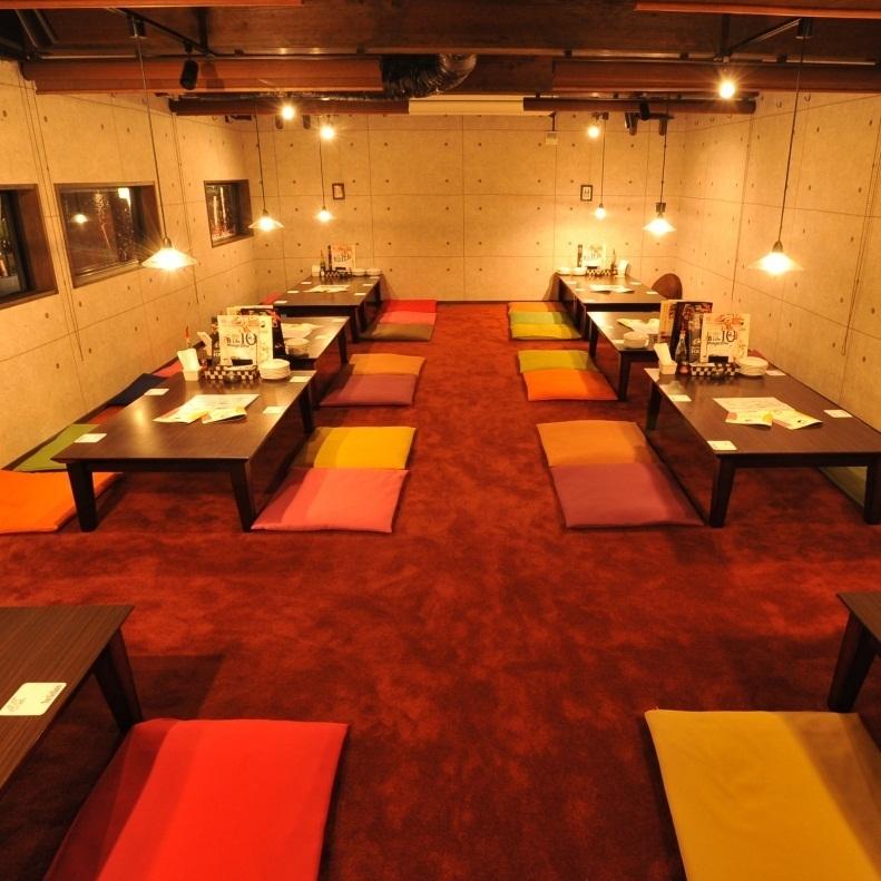 最多可容納Osami座位的私人房間最多可容納30人!