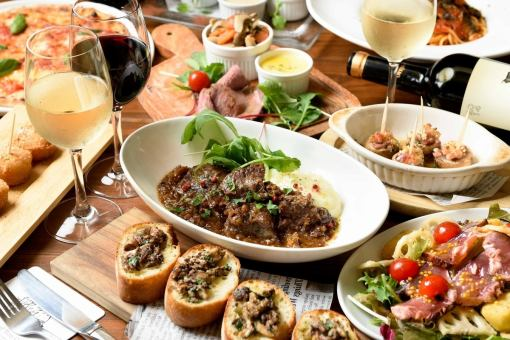 Cow ho ho red wine stew and choice Pizza & Autumn taste all 11 items All you can drink with 120 minutes Autumn Italian course ♪