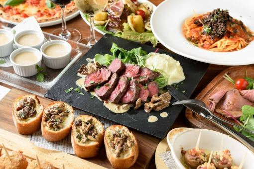 Domestic beef roast & Pizza & choice of pizza & autumn taste 11 items 120 minutes Autumn Italian course with all you can drink ♪