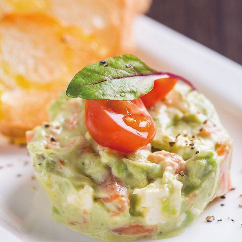 Smoked salmon and avocado tartar