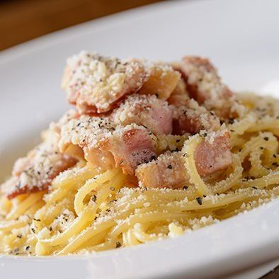 Of slab bacon carbonara