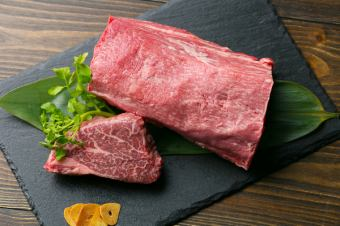 Kuroge Wagyu beef sirloin steak 【5500 yen course】