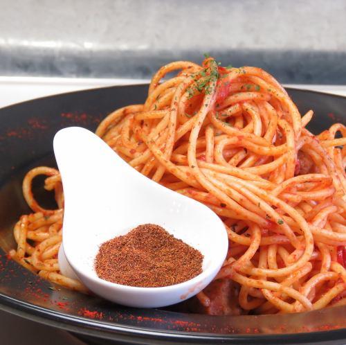 ジョロキアントマトパスタ