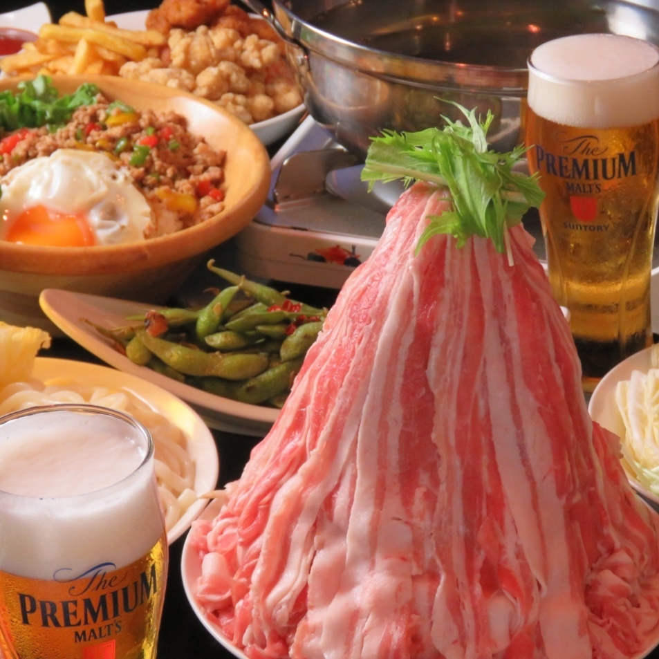 【完整的私人房間限制】涮涮鍋餐和最新的卡拉OK和飲酒♪