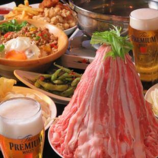 【3】 【평일 한정】 샤브샤브 음식 뷔페 포함 6 종 및 최대 180 분 음료 뷔페 포함 ♪ 【2280 엔】