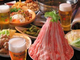 【3】 【Weekday Limited】 Shabu Shabu Food Release 6 items & Maximum 180 minute drink unlimited ♪ 【2280 yen】