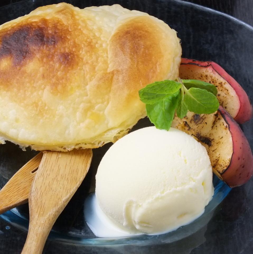 焼きパイとシナモンアップル