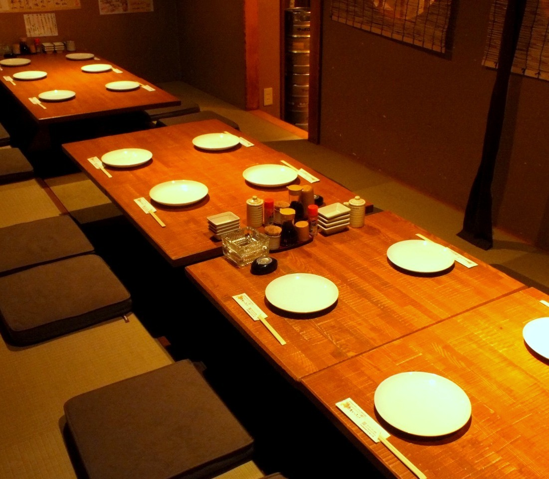 It is a private room for 14 people.It is perfect for company banquet.