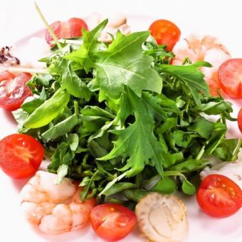 Seafood and watercress salad