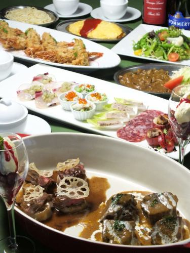【All you can drink】 Recommended fish & meat dishes, until dessert! Bee's child Standard 6500 yen course (all 8 items)