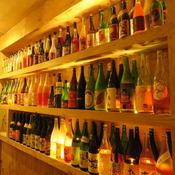 More than 200 bottles of juice lined up in the entrance! It is a perfect place for date dating, from a casual cafe on the way back from the company.