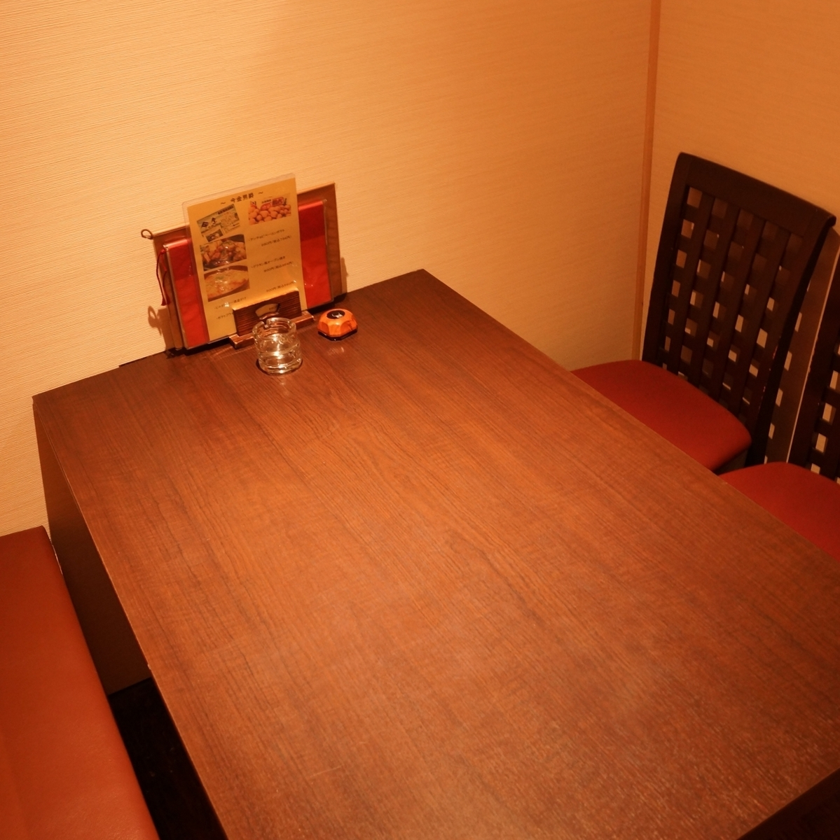 Private room in the table.You can relax without worrying about the surroundings