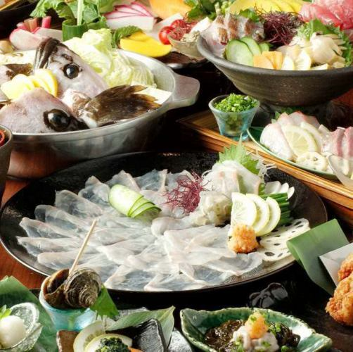 Luxury course to taste the phoenix luxury fish book total 9 items 7800 yen 2 h with all you can drink 9960 yen ⇒ 7999 yen !!