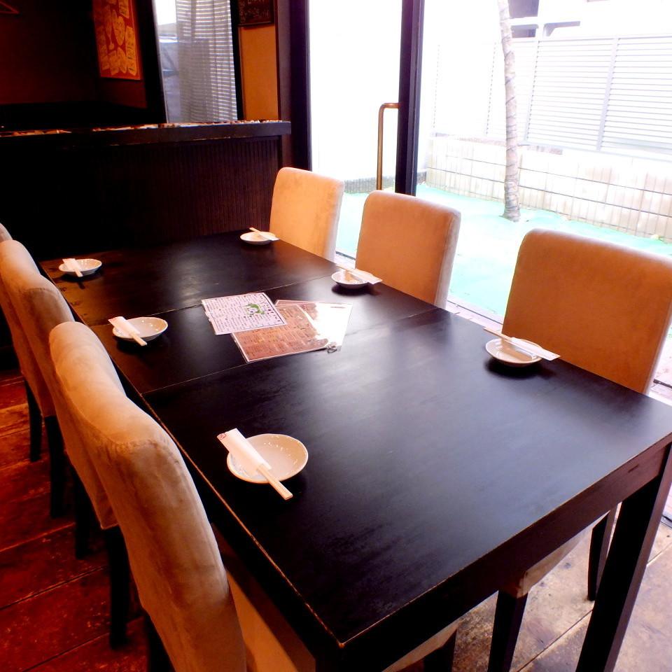 6 명 테이블