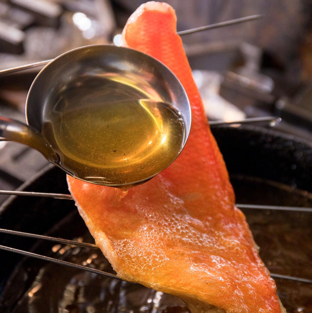 静岡県 遠州灘 天竜川沖 釣りの金目鯛 10日熟成北京ダック風