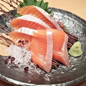 How about · Tako · salmon each piece of sashimi