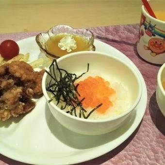 긴타로 (미나미 우 오누 마산 코시 히카리의 いくらご飯 · 아카기 닭 튀김 · 감자 튀김) ※ 점심도 주문 가능