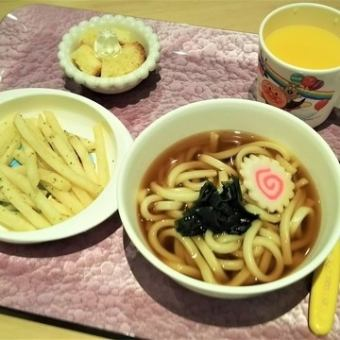 Three buckwheat noodles (hot noodles, potato fries) ※ Lunch ordered