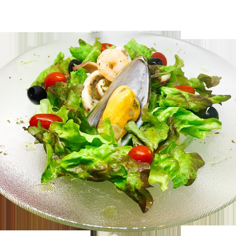 ムール貝とエビのシーフードサラダ