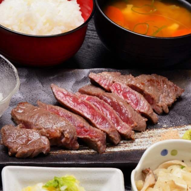 Special sirloin steak set meal