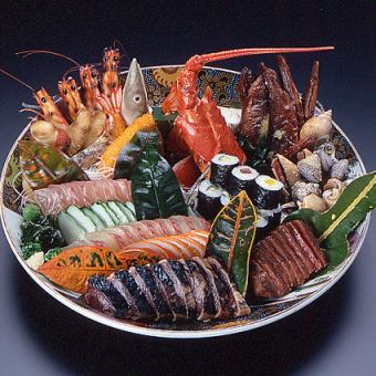 【土佐の宴コース】Gコース『皿鉢と鯨のハリハリ鍋』(料理のみ)
