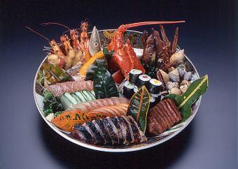 """【土佐的宴会套餐】G套餐""""龟锅和鲸鱼的沙拉""""(仅限烹饪)"""