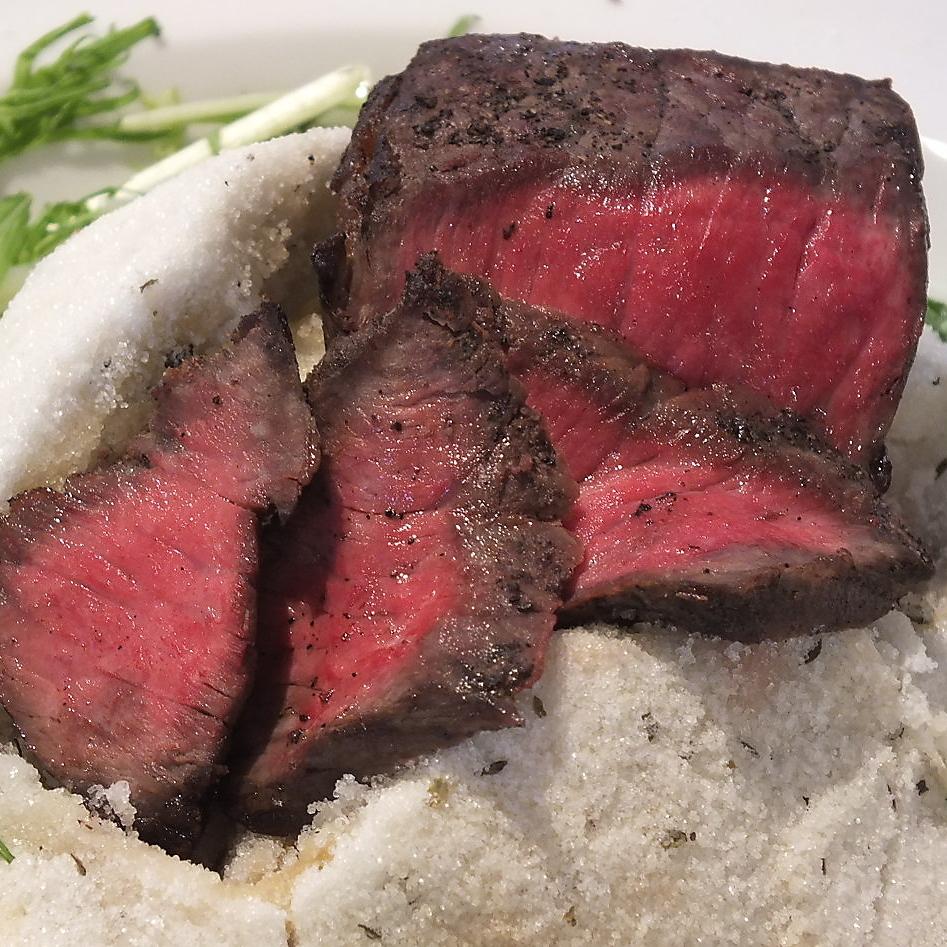 神户牛肉的盐锅烤牛肉
