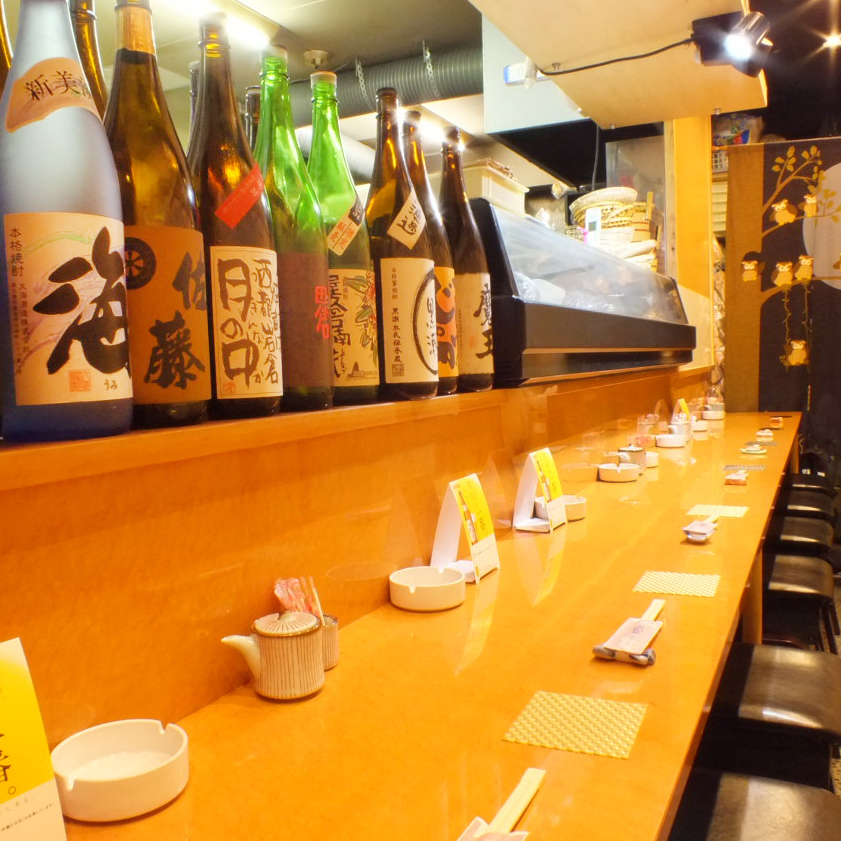 【Welcoming by yourself】 Recommended counter seat where you enjoy the fresh ingredients purchased on that day up close and close to the general General ◎ If you get along with the friendly generals this seat.