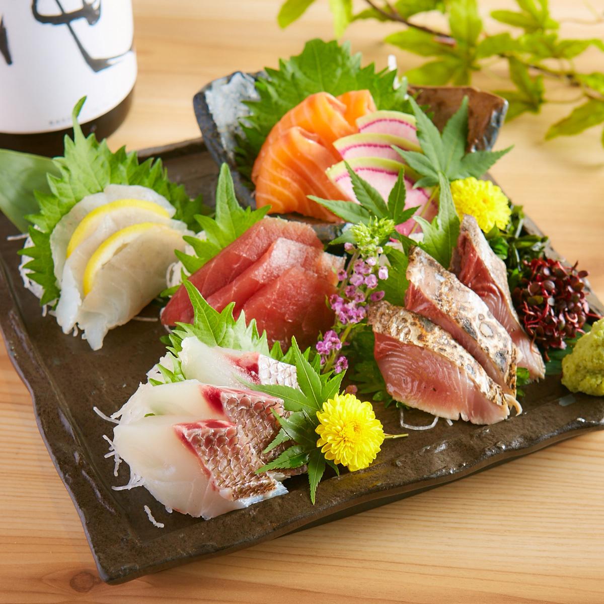 鮮魚5点盛り