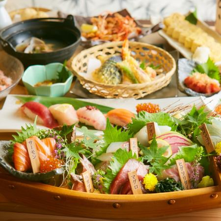 """【Luxury Specials】 Exquisite luxury! Seafood covered special course ♪ """"3 hour drinks all you can"""" 10 items 6000 yen ⇒ 5000 yen"""