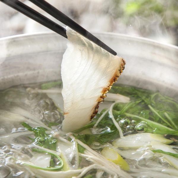 我們的店鋪人氣不,1!Snapper Shabu★寶石堅持收緊鯛魚和自己的湯!